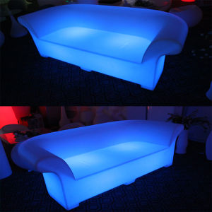 Plastic Glow LED Furniture Double Sofa (H013) pictures & photos