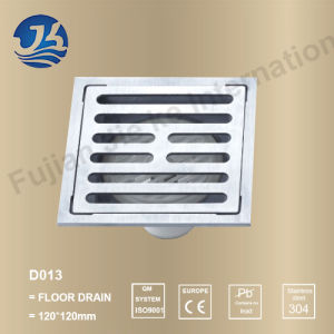 Square Bathroom Concrete Shower Stainless Steel Floor Drain (D13)