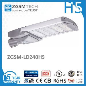 High Lumen 240W LED Street Light 347-480VAC Input with Bronze Housing pictures & photos