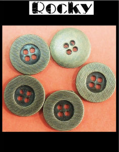 Fashion Accessories Anti Brass Alloy Button pictures & photos