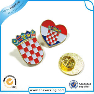 Special Design High Quality Cross Flag Lapel Pin pictures & photos