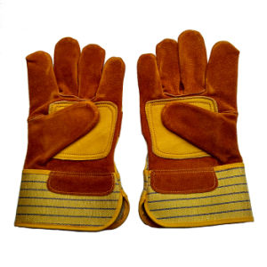 Safety Leather Working Gloves with Ce En388 pictures & photos