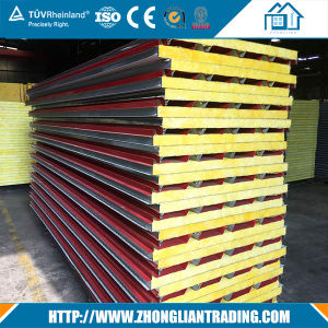 Rockwool Sandwich Panels for Wall and Roof at Competitive Price for Prefab Chicken Farm Made in China pictures & photos