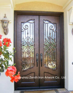 Double Wrought Iron Entrance Door