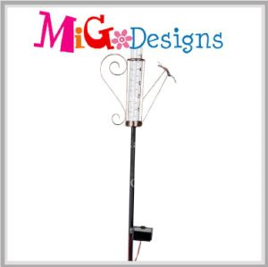 Solar Lights OEM Metal Garden Ladybug Rain Gauge Stake pictures & photos