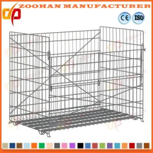 Folding Zinc Plated Steel Wire Mesh Storage Container Cage (Zhra22) pictures & photos
