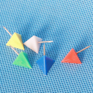 Coloured Plastic Triangular Push Pin (QX-HP003) 13*22mm Decoration pictures & photos