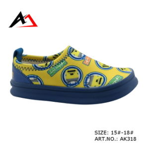 Leisure Casual Shoes Slip-on Carton Pattern for Children Shoe (AK318) pictures & photos