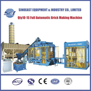 Full-Automatic Hydraulic Concrete Block Making Machine (QTY10-15) pictures & photos