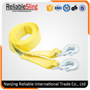 Heavy Duty Polyester 4WD Parts Auto Car Towing Belt with Forged Hooks pictures & photos