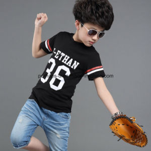 High Quality Printed Baseball Boys T Shirt Children Wear pictures & photos