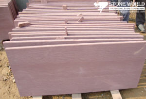 Pink Vein Sandstone Tiles for Wall/Flooring (CS074) pictures & photos