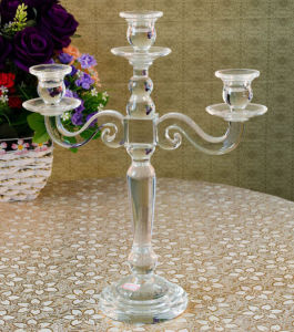 Crystal Glass Candleholder Craft for Christmas Decoration pictures & photos