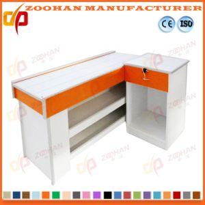 Metal Supermarket Shop Cashier Checkstand Table Checkout Cash Counter (Zhc32) pictures & photos