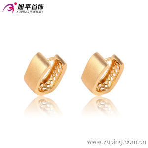 Popular Fashion Simple Gold-Plated Jewelry Hoop Earring - 90856 pictures & photos