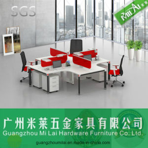Height Adjustable Office Furniture Office Computer Desk for 4 People pictures & photos