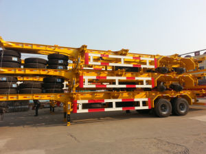 2 Axle/3 Axle 40′ Skeleton Container Semi Trailer pictures & photos