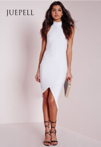 Cut out Panel Bardot Party Bodycon Women Dress pictures & photos