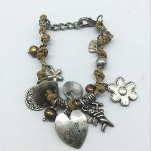 Heart Drop Leather Thread Alloy Parts Bracelet (XBL13561) pictures & photos