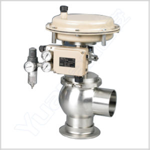 Sanitary Stainless Steel Regulating Control Valve with Positioner pictures & photos