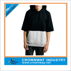 Latest Fashion Design Mens Short Sleeve Pullover Hoodie pictures & photos