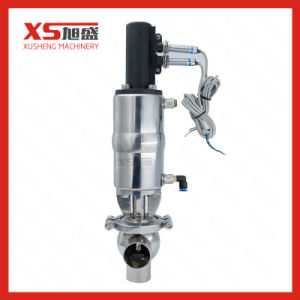 Sanitary Stainless Steel SS304 SS316L L Pneumatic Divert Flow Valve pictures & photos