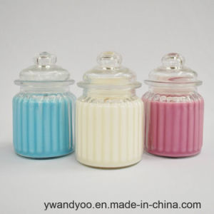 Romantic Scented Soy Candle in White Glass with Gift Box