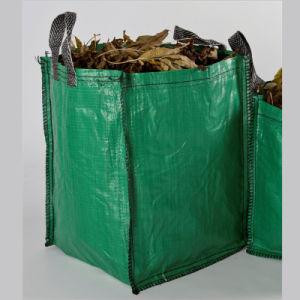 Green PE Woven Garden Waste Leaf Bin pictures & photos