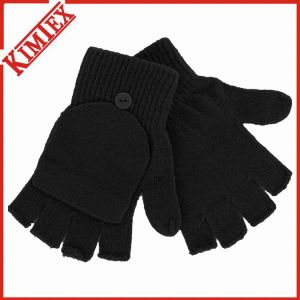 Custom Acrylic Knitted Winter Glove/Warm Glove with Flap pictures & photos