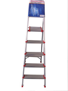 1m Aluminum Alloy 5-Step Household Ladder pictures & photos