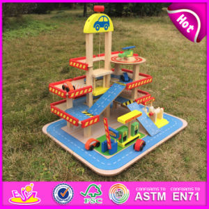 2016 New Products Child Wooden Parking Garage Toy, High Quality Car Parking Garage Toy, Best Sale Car Parking Toy W04b034 pictures & photos