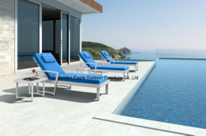 New Design Outdoor Sun Lounger with Cushion pictures & photos