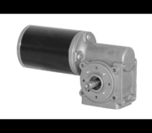 Low Voltage DC Brush Worm Gear Motor with Flange pictures & photos