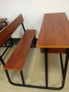 Combo Wooden School Desk with Chair (SF-46D) pictures & photos