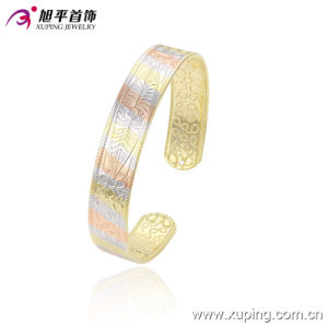 51419 Fashion Simple Gold-Plated Jewelry Bangle in India Style pictures & photos