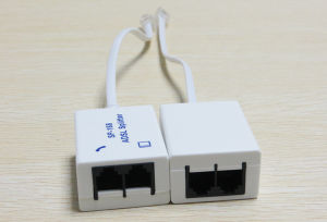 Sp-168 Dual Port ADSL Splitter Phone Splitter with Network Cable pictures & photos
