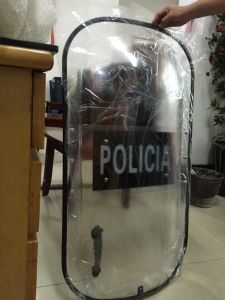 Police Hot Sale in Cuba Anti-Riot Shield with 2 Handles pictures & photos