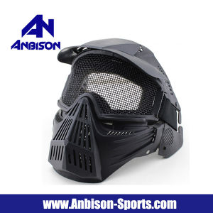 Full Face Airsoft Mask Goggle Mesh Mask Without Neck Protect pictures & photos