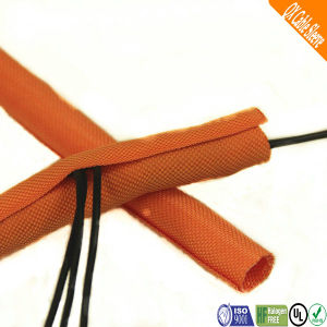 Black Flexo Polyester Woven Cable Wire Sleeving pictures & photos