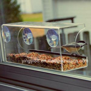 Crystal Clear Weatherproof Design Squirrel Resistant Acrylic Window Bird Feeder pictures & photos