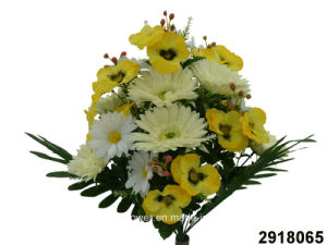 Artificial/Plastic/Silk Flower Pansy/Gerbera/Daisy Mixed Bush (2918065) pictures & photos