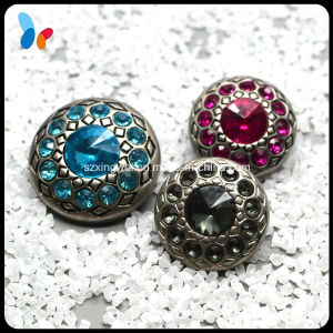 Fashion Crystal Plastic Shank Button with Diamonds pictures & photos