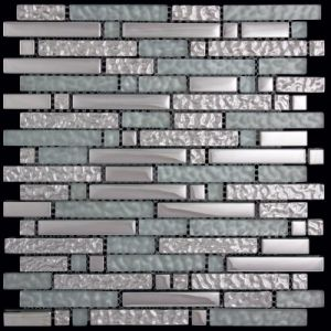 Glass Metal Mosaic Tile for Bathroom Wall pictures & photos