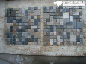 Natural Colorful Slate Mosaic for Walling and Flooring Stone pictures & photos
