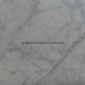 Italian Bianco Carrara White Polished Marble Slab for Tiles and Countertops