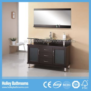 American Bathroom Vanity Sanitary Ware with LED Lamp and Frosted Glass Doors (BV198W) pictures & photos