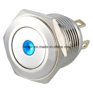 16mm Short Body Resetable Metal LED Push Button Switch pictures & photos