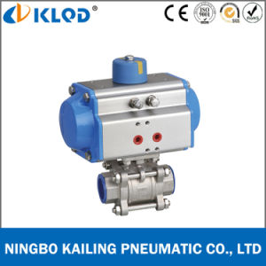 Dn80 Double Acting Pneumatic Actuator Ball Valve for Water Q611f pictures & photos