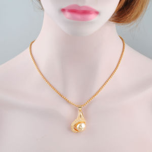 Elegant Saudi Arabic Gold Accessory Pearl Bead Necklace pictures & photos