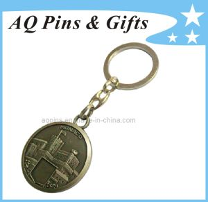 Promotional 3D Metal Key Chain in Antique Bronze pictures & photos